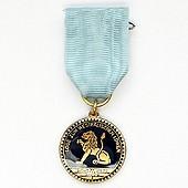 Medaille mit Messingprägung, mit Softemaille und Epoxydharzüberzug