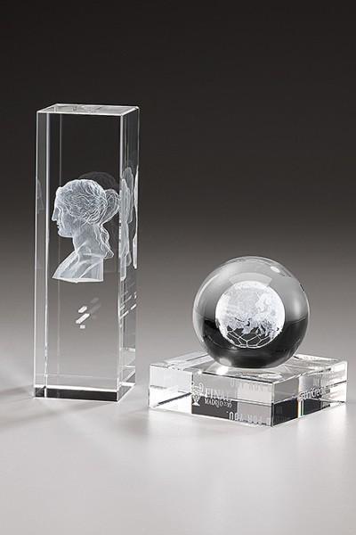 Kristallglastrophäe Sonderanfertigung